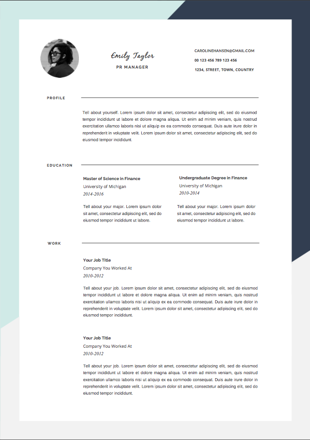 Cv Template  Photoshop And Ms Word Template  Cv Template