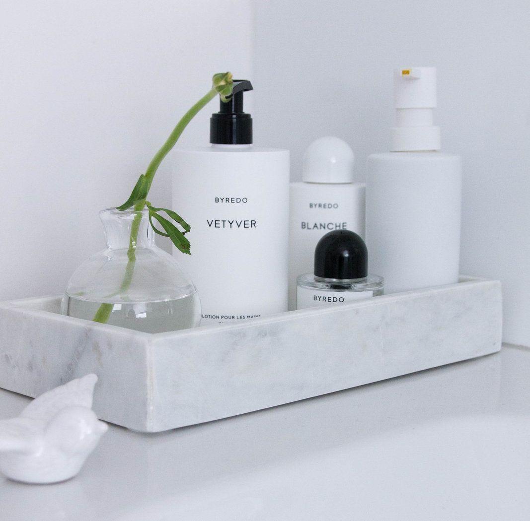 Marmor Tablett Weiss 30 X 15 X 5 Cm Deko Tablett Badezimmer Badezimmer Deko