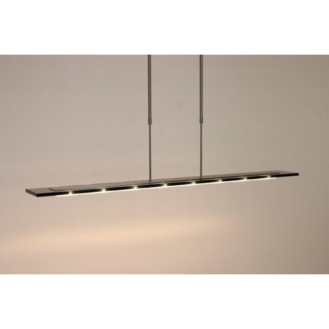 Strakke glasplaat hanglamp REALITY LED zwart 100cm - Design ...