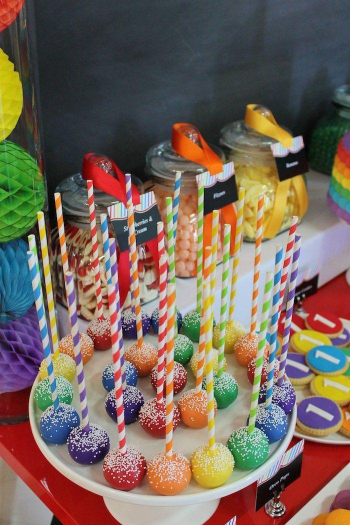 "Photo of Erste Geburtstagsfeier unter dem Motto ""Regenbogen"" {Planung, Ideen, Styling, Dekor} – #birthda …"