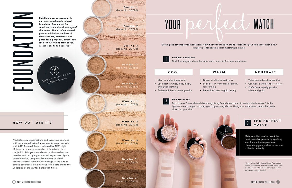 Savvy Minerals by Young Living Product Catalog on Behance
