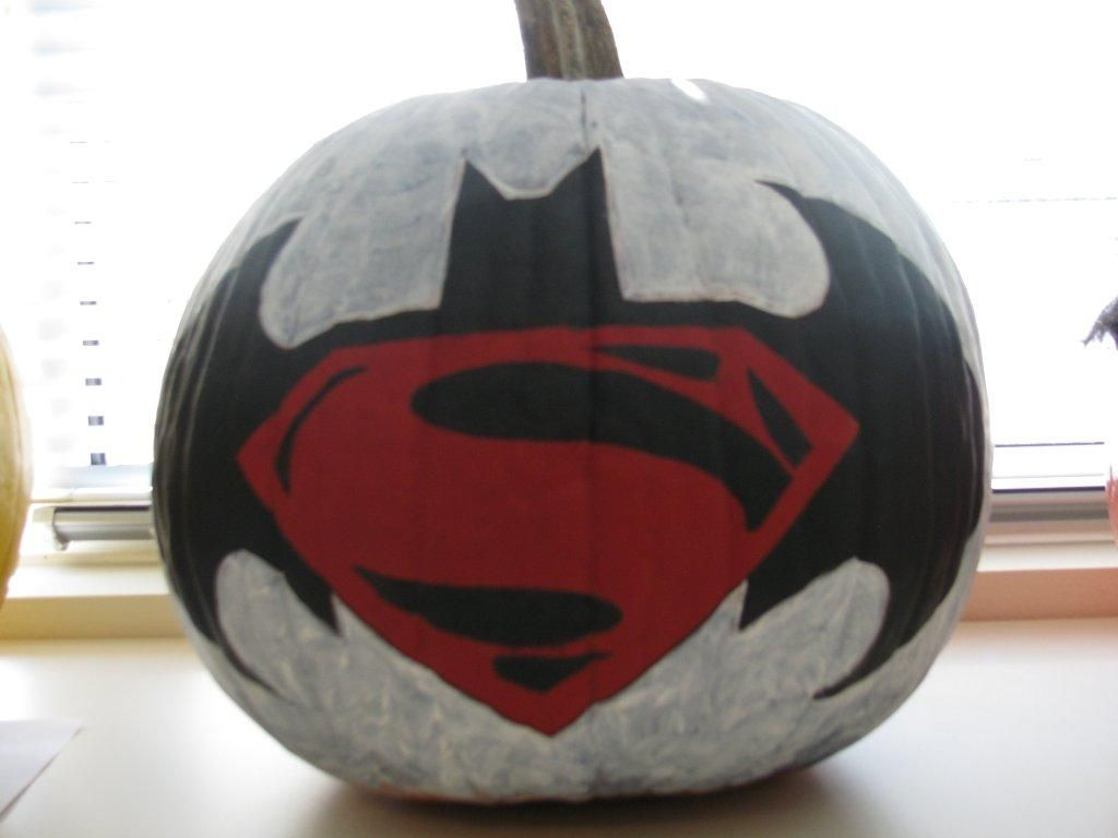 Justice League In The Sky Pumpkin Batman Superman