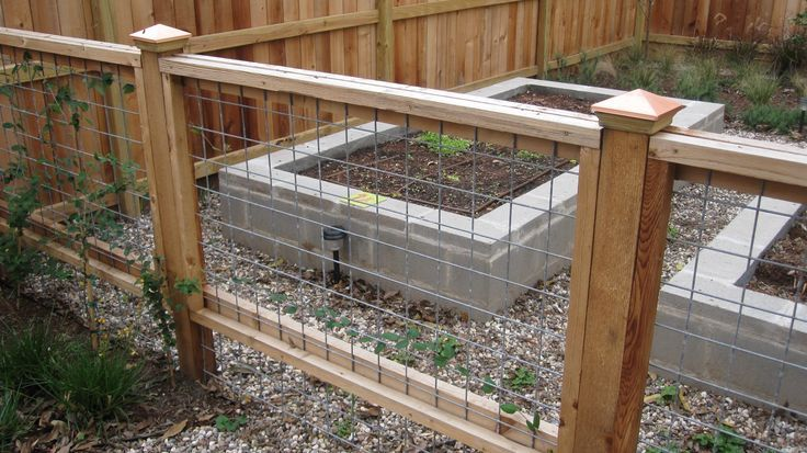 welded wire fence, extend fence below wood frame | For the Home ...