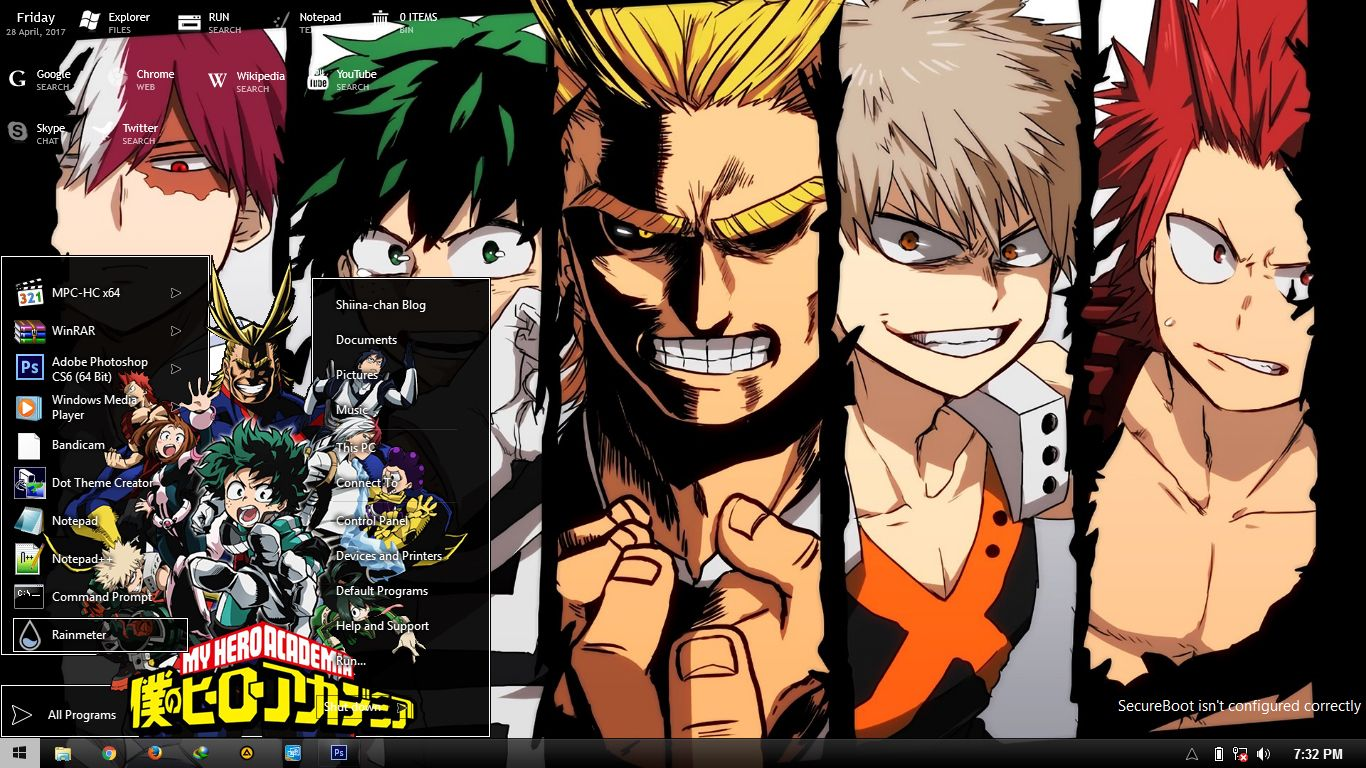 My Hero Academia Themes For Windows 8 8 1 And 10 My Hero Academia Ost Boku No Hero Academia Hero Wallpaper