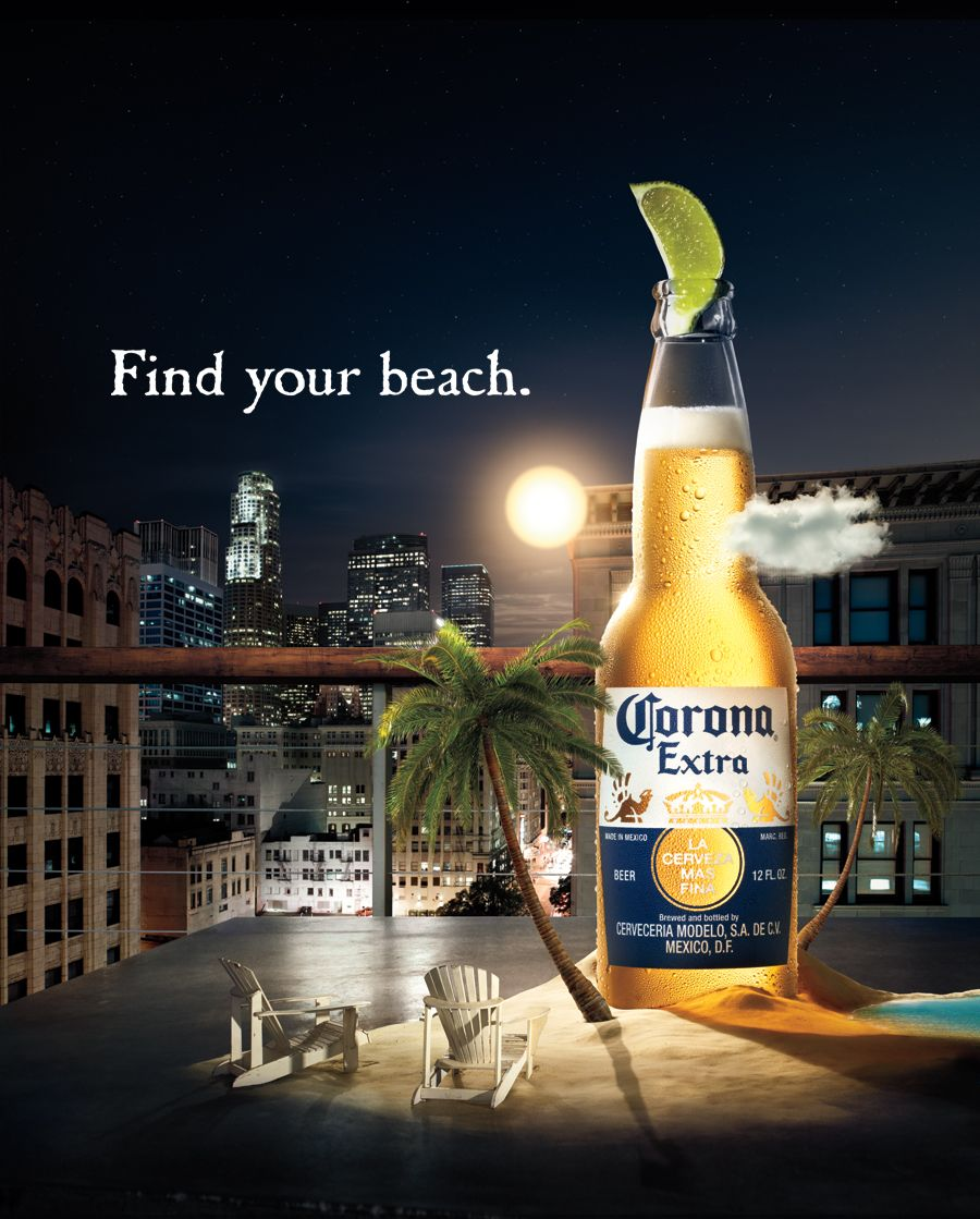 Corona Extra Find Your Beach Campaign Powerfully Delivers Brand Positioning Beer Advertising Beer Beer Prints