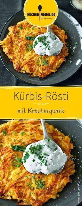 Kürbis-Rösti mit Kräuterquark #herbstgerichte