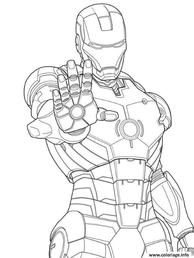 Coloriage De Iron Man Coloriage Batman Coloriage Spiderman Coloriage Iron Man