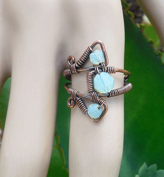 Gypsy wire ring gypsy bohemian rings wire wrapped ring unique handmade ring boho jewelry bohemian jewelry wire ring boho ring size 7 ring