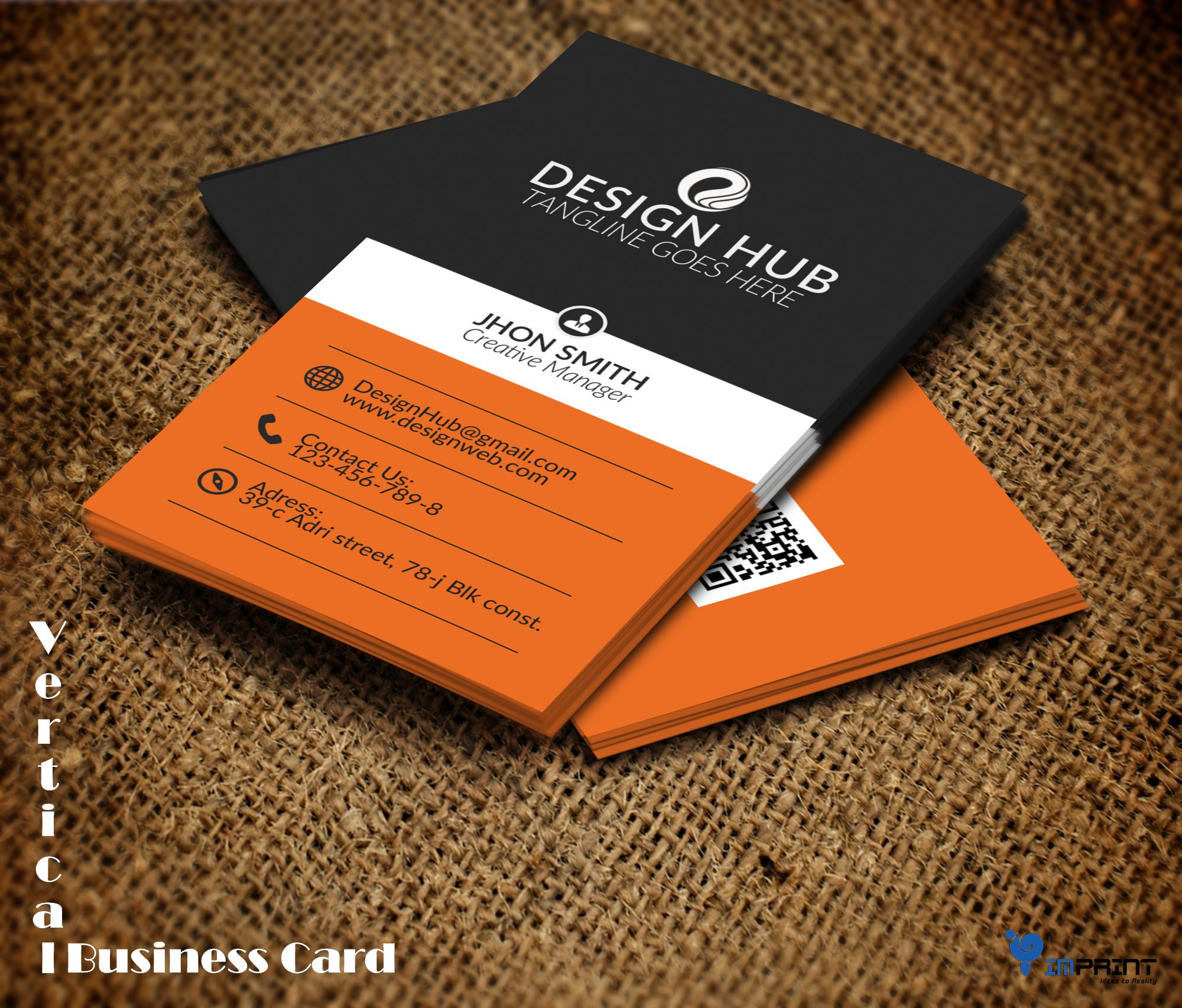 Vertical Business Card Imprint provides you all kind of business ...