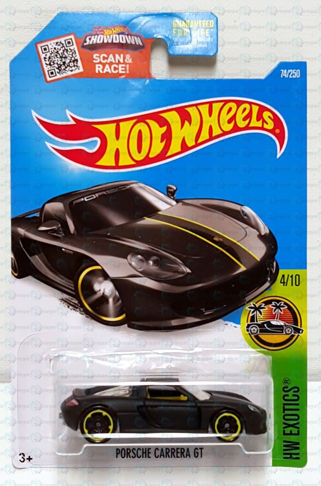 New 2016 Hot Wheels Hw Exotics Porsche Carrera Gt Black 4 75 250