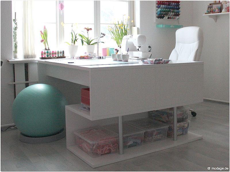 hallo ihr lieben ich m chte euch gern mein neues kreatives reich zeigen jubel es ist. Black Bedroom Furniture Sets. Home Design Ideas