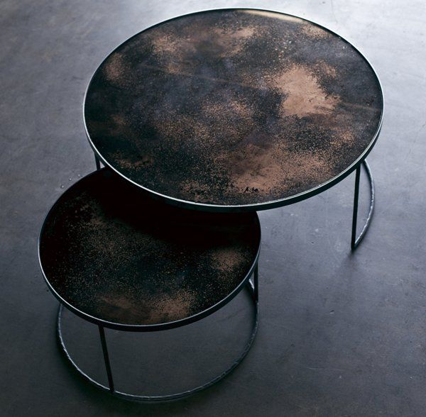 Notre Monde | Bronze Nesting Coffee Table Set - 20700 - Heavy aged ...