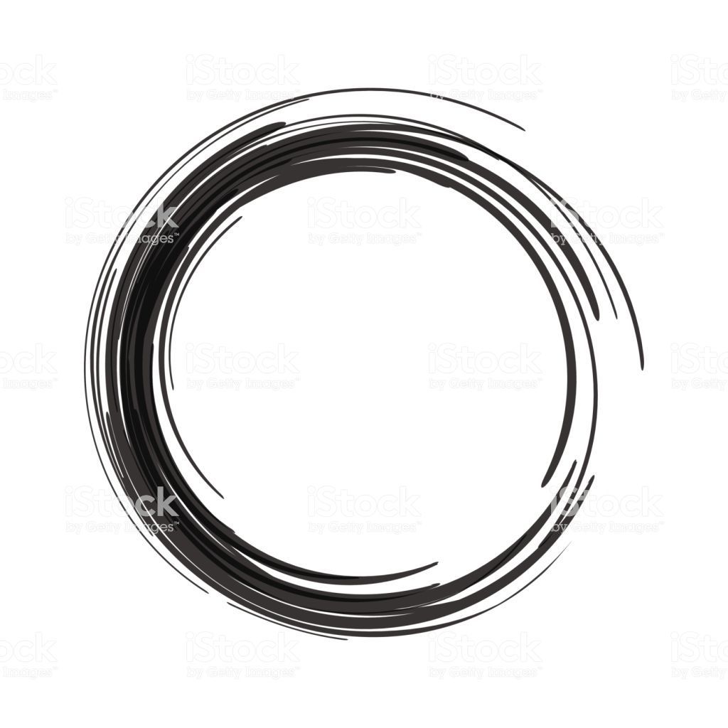 Vector Black Paint Brush Circle Stroke Abstract Japanese Style Hand How To Draw Hands Black Paint Ink