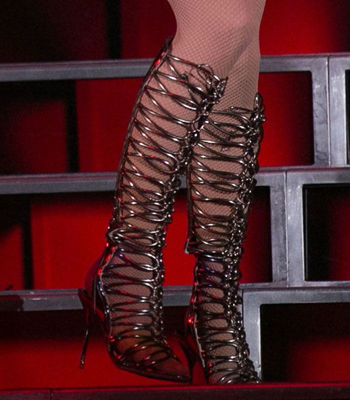 94225930320 Jennifer Lopez Gets Bootilicious in Sophia Webster Gladiator Sandal Boots