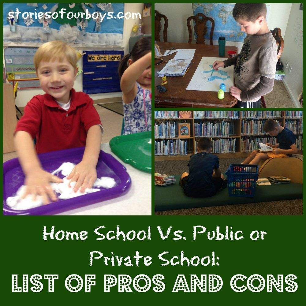 pros and cons of public and private schools
