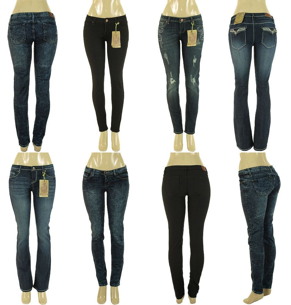 New Women Skinny Straight Leg Stretch Leggings Denim Jeans 0 1 3 5 7 9 11 13
