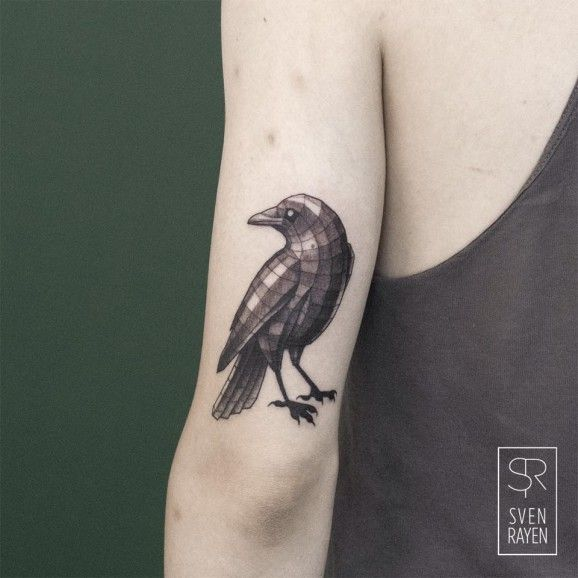 The Geometric Animal Tattoos Of Sven Rayen