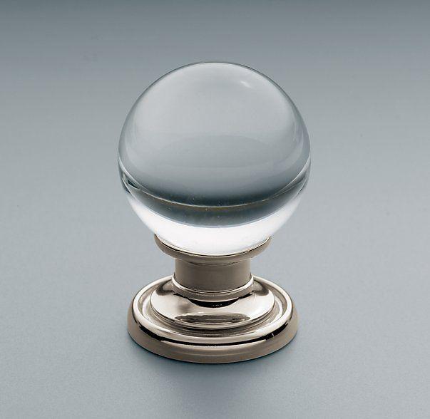 round glass cabinet knobs