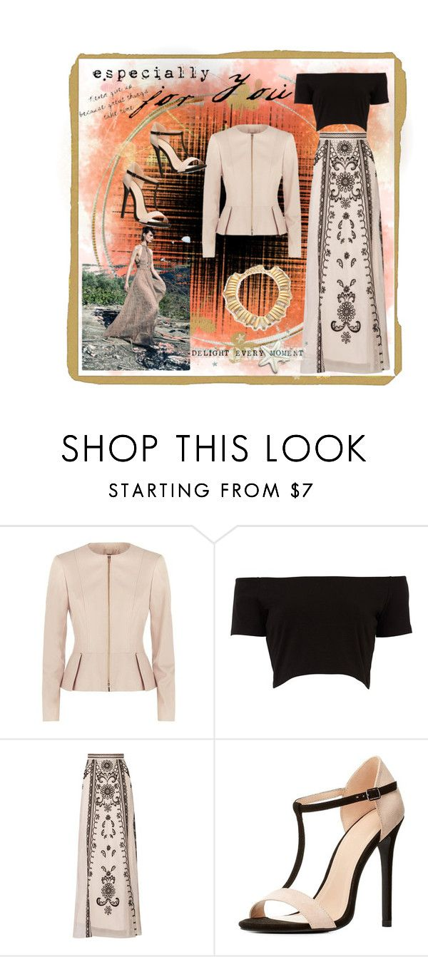 """""""Date Night"""" by fashion-holy ❤ liked on Polyvore featuring BOSS Hugo Boss, Temperley London, Charlotte Russe and Oscar de la Renta"""
