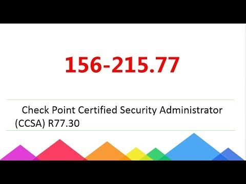 Passcert] 156-215.77 Check Point Certified Security Administrator ...