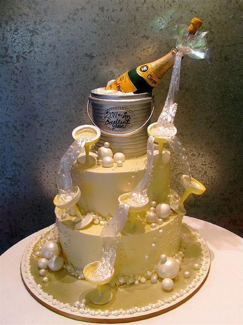 Champagne A Toast Bottle Cake New Year S Cake Cake