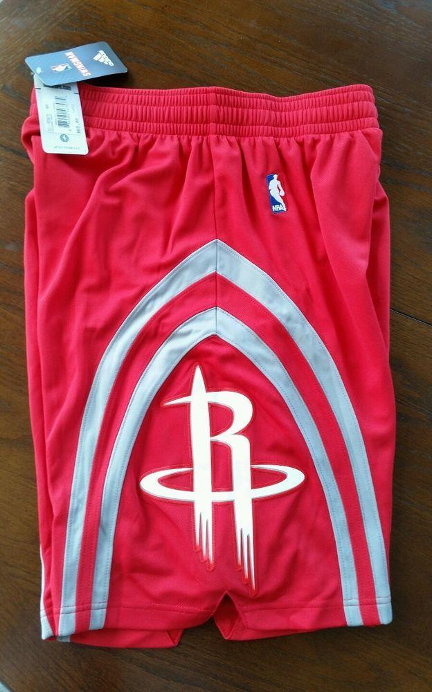 brand new c41a8 da43a Mens NBA Houston Rocket adidas swingman Road Red shorts ...