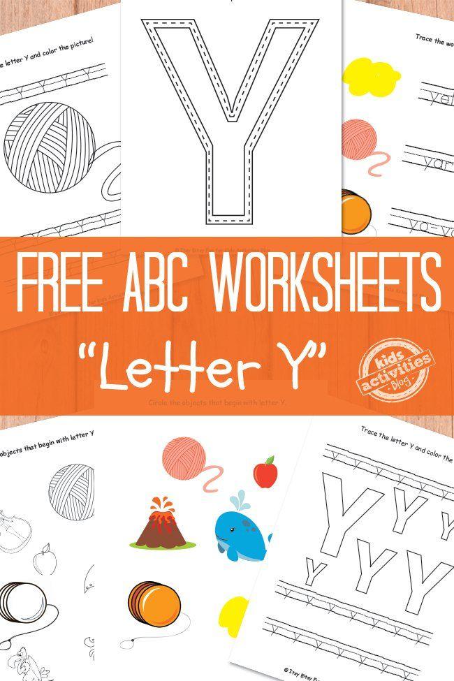 letter y worksheets free kids printable pre school pinterest worksheets kindergarten. Black Bedroom Furniture Sets. Home Design Ideas