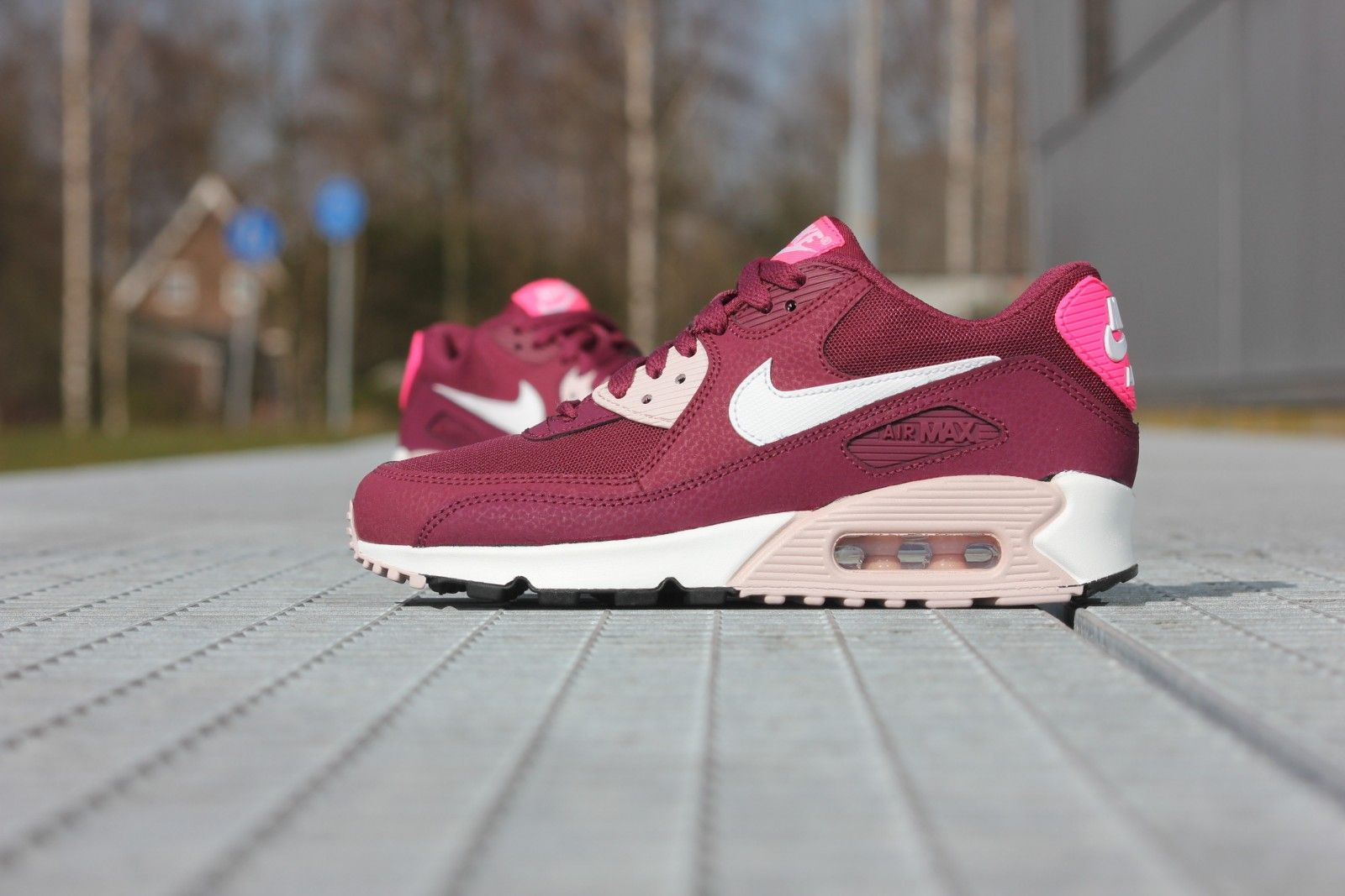 f78e7fd44510f ... germany nike air max 90 essential villain red white champagne pink pow  616730 33152 589fe