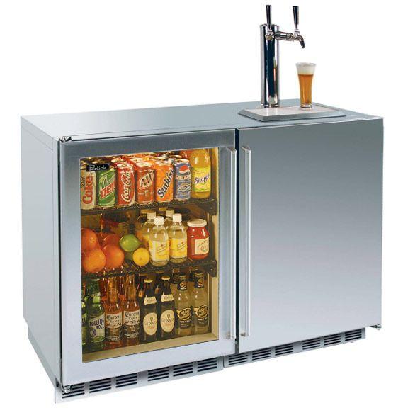 Kegorator Fridge Combo Outdoor Refrigerator Home Basement Bar