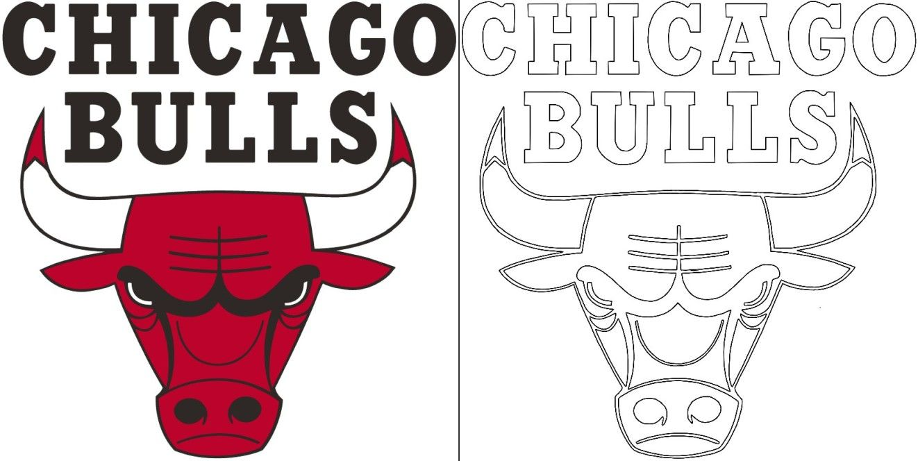 Bulls logo coloring page  Bull logo, Coloring pages, Chicago