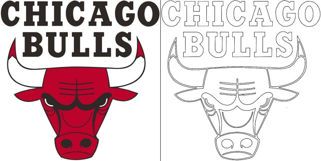 bulls logo coloring page in 2020  bull logo coloring