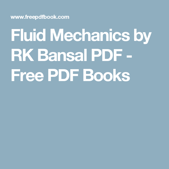 fluid mechanics by rk bansal pdf karma pinterest fluid