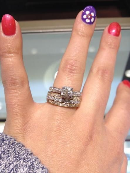 Can\'t choose a wedding band to go with my engagement ring!! Please ...
