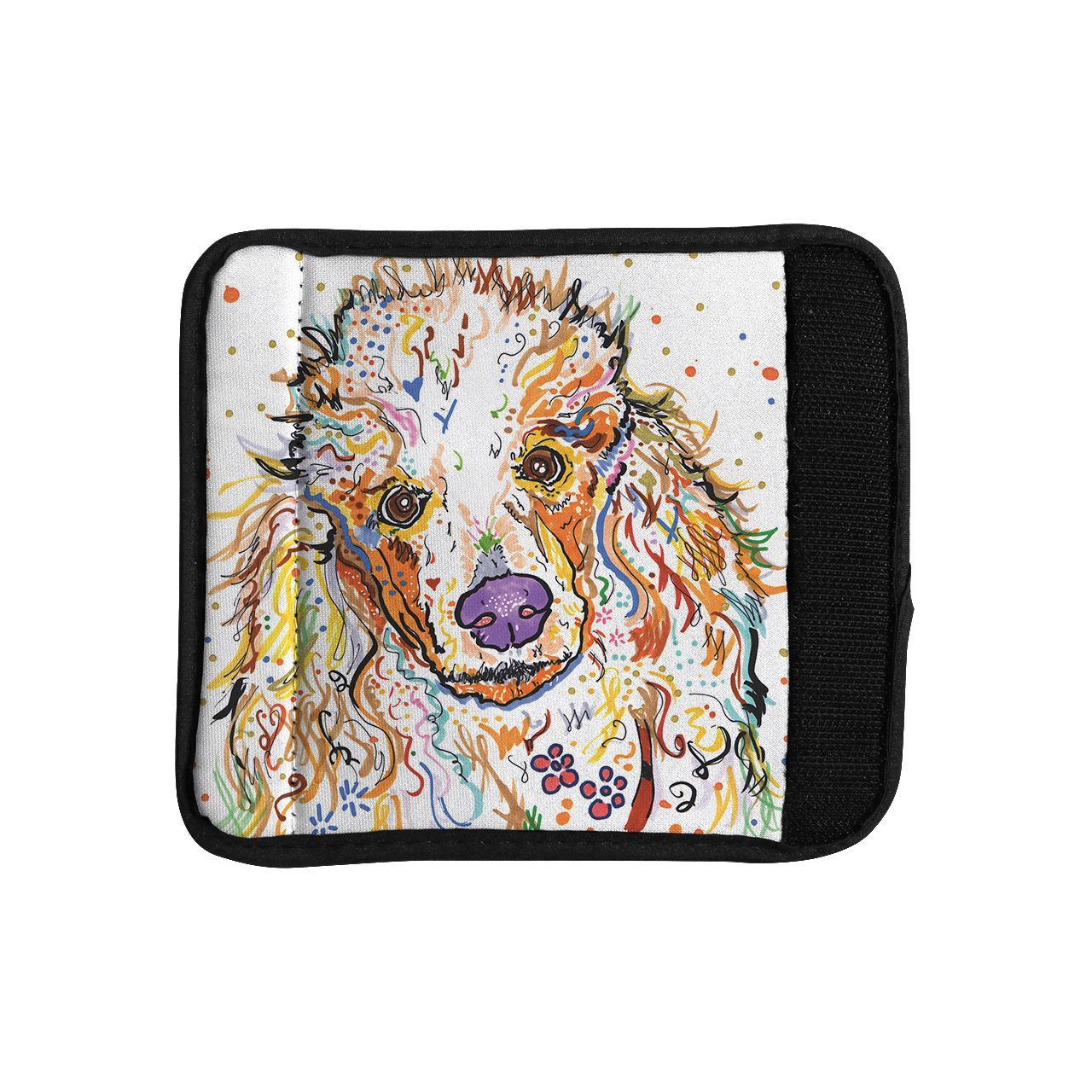 Kess InHouse Rebecca Fischer 'Lily' Poodle Luggage Handle Wrap
