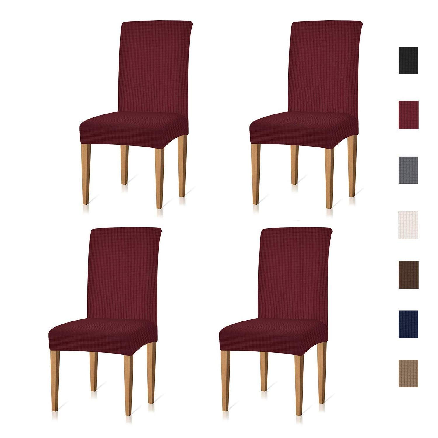 Xflyee Stretch Dining Room Chair Covers Jacquard Removable