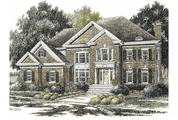 Colonial Style House Plan 4 Beds 3 Baths 3250 Sq Ft Plan 429 420 Colonial Style Homes House Plans Colonial House