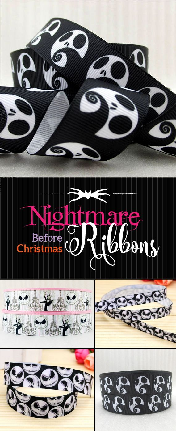 NIGHTMARE Before Christmas RIBBON. I found this Etsy shop that ...