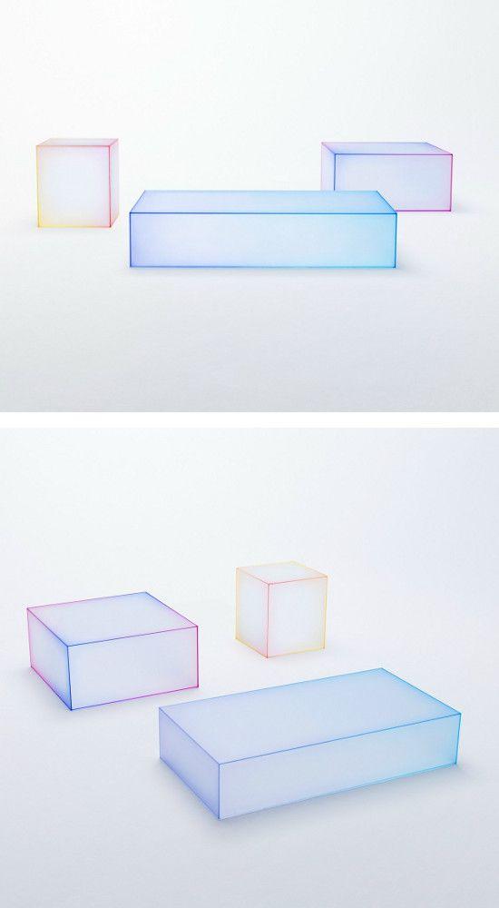 Nendo Makes Glass Soft The Collection For Glas Italia At Nendo S Solo Exhibition During Mdw 2015 Oggetti Illuminazione E Progetti
