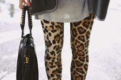 leopard leggings. hot.