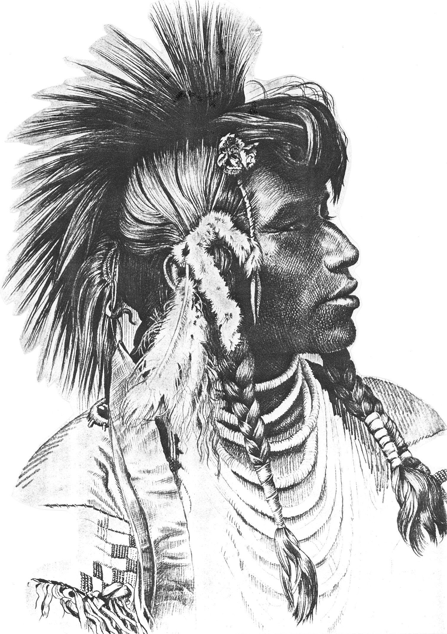 графические картинки про индейцев нас большая
