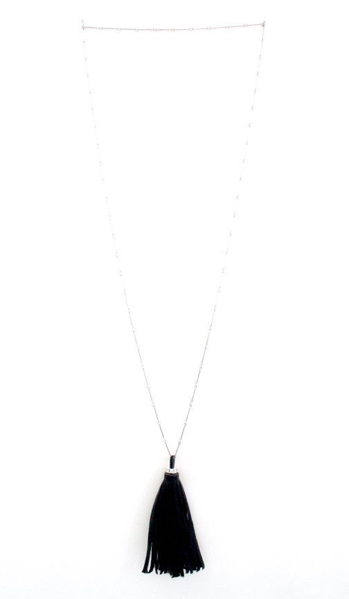 Huxton Leather Tassel Necklace | More Colors Available