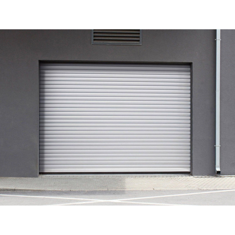 Porte De Garage A Enroulement Motorisee Artens Essentiel H 200 X L 240 Cm Porte Garage Enroulable Porte Garage Garage
