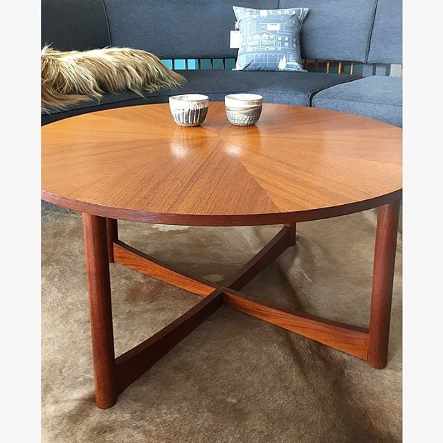 "Steel Coffee Table Legs Brisbane: Beautiful Parker Round ""Sundial"" Coffee Table. Circa 1967"