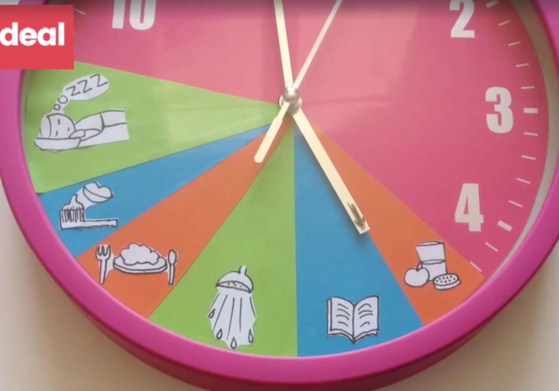 Fabuleux Voici une idée géniale : l'horloge des routines. | parentalité  LS75