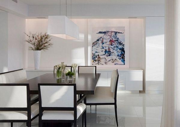 20 Minimalist Dining Room Ideas Simple Design And Geometric Shapes Minimalist Dining Room Contemporary Dining Room Design Dining Room Wall Art
