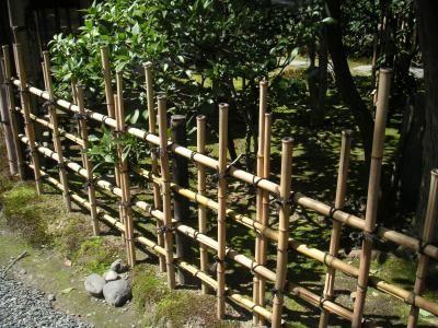 une barriere en bambous  | jardin | bambous jardin, barrière et