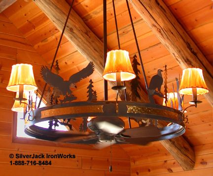 Perhaps Use Hanging Design For A Wagon Wheel Ceiling Fan