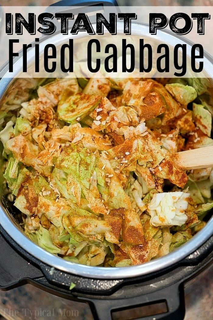 cooker fried cabbage is amazing! If you love cabbage and bacon you will enjoy this. Love my Instant