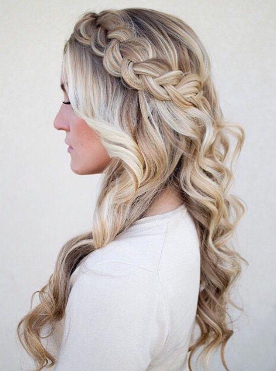 Prom Hairstyles Waterfall Braid Quinceanera Hairstyles Hair Styles Long Hair Styles Braids For Long Hair