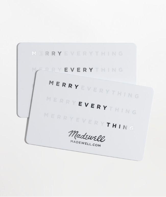 Madewell Gift Card Madewell Gift Card Gift Card Gift Card Design